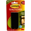 Command Adhesive Large Picture Hanging Strips - Rubber Resin Backing - Removable, Damage Resistant - 8 / Pack - Black