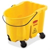 "Rubbermaid Commercial WaveBrake Bucket - 26 quart - Tubular Steel, Plastic - 16.7"" x 15.9"" - Yellow"