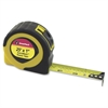 "ExtraMark Fractional Tape Measure - 25 ft Length 1"" Width - 64 / Carton - Black, Yellow"