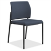 "HON Accommodate Guest Chair - Fabric Cerulean Seat - Fabric Cerulean Back - Steel Textured Black Frame - Four-legged Base - 23.3"" Width x 21"" Depth x 32"" Height"