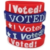I Voted Wristbands - Silicone