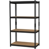 "2,300 lb Capacity Iron Horse Shelving - 4 Compartment(s) - 60"" Height x 36"" Width x 18"" Depth - Recycled - Black - Steel, Particleboard - 1Each"