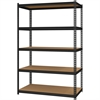 "Hirsh 2,300 lb Capacity Iron Horse Shelving - 5 Compartment(s) - 72"" Height x 48"" Width x 24"" Depth - Recycled - Black - Steel, Particleboard - 1Each"