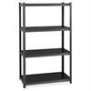 "Hirsh 3,200 lb Capacity Iron Horse Shelving - 4 Compartment(s) - 60"" Height x 36"" Width x 18"" Depth - Recycled - Gray, Black Shelf - Steel, Particleboard - 1Each"