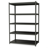 "Hirsh 3,200 lb Capacity Iron Horse Shelving - 5 Compartment(s) - 72"" Height x 36"" Width x 18"" Depth - Recycled - Gray, Black Shelf - Steel, Particleboard - 1Each"