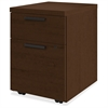 "10500 Srs Mocha Laminate Furniture Components - 15.8"" x 18"" x 22"" - 2 x Box Drawer(s), File Drawer(s) - Single Pedestal - Flat Edge - Material: Wood - Finish: Mocha Laminate, Thermofused Laminate"