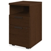 "HON 10500 Series Mobile Pedestal - 15.8"" x 18.9"" x 28"" - 2 x Box Drawer(s), File Drawer(s) - Single Pedestal - Square Edge - Material: Wood - Finish: Mocha Laminate, Thermofused Laminate (TFL)"