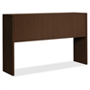 "HON 10500 Series Stack-On Hutch - 59.9"" x 14.6"" x 37.1"" - Drawer(s)4 Door(s) - Square Edge - Material: Wood Grain Work Surface, Metal Fastener - Finish: Mocha, Thermofused Laminate (TFL), Chrome Plate"