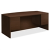 "10500 Srs Mocha Laminate Furniture Components - 72"" x 36"" x 29.5"" - 2 x Box Drawer(s), File Drawer(s) - Double Pedestal - Material: Particleboard - Finish: Mocha Laminate"