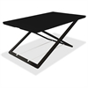 "Lorell Slim Adjust Desk Riser - 33 lb Load Capacity - 1.5"" Height x 36"" Width x 22"" Depth - Desktop - Black"