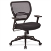 "Dark Air Grid Back Managers Chair - Black Seat - 5-star Base - 20.50"" Seat Width - 26.5"" Width x 25.3"" Depth x 42"" Height"