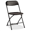 "2200 Series Injection Mold Folding Chair - Polypropylene Black Seat - Polypropylene Black Back - Steel Powder Coated, Black Frame - Four-legged Base - 31.5"" Width x 19.3"" Depth x 1"