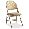 "XL Fanback Steel and Vinyl Folding Chair - Vinyl Neutral, Steel Seat - Polypropylene Neutral Back - Steel Neutral Frame - Four-legged Base - 16.93"" Seat Width x 16.93"" Seat Depth - 19.3"" Wid"