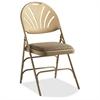 "XL Fanback Steel & Fabric Folding Chair (Case/4) - Fabric Neutral, Steel Seat - Polypropylene Neutral Back - Steel Neutral Frame - Four-legged Base - 16.93"" Seat Width x 16.93"" Seat Depth -"