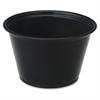 Cup - 4 fl oz - 2500 / Carton - Black - Polystyrene - Beverage, Sauce