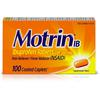 Johnson&Johnson Motrin IB Caplets - For Fever, Common Cold, Headache, Backache, Muscular Pain, Arthritis, Toothache - 100 / Box