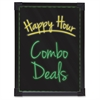 "Black LED Wet/Dry-Erase Board, Battery Operated, 17.3"" x 13"" - 17.3"" (1.4 ft) Width x 13"" (1.1 ft) Height - Black Surface - Black Aluminum Frame - Rectangle - Wall Mount, Tabletop - 1 Each"