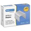 Rapesco 26/6mm Galvanized Staples - 26/6mm - 5000 / Box