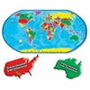A Broader View 80-piece World Puzzle - Theme/Subject: Learning - Skill Learning: Countries, Landmark, Animal Name - 80 Pieces