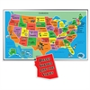 A Broader View 55-piece Kids Jumbo USA Puzzle - Theme/Subject: Learning - Skill Learning: States & Capitals, Landmark - 55 Pieces