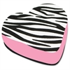 Ashley Zebra Heart Magnetic Whitebrd Eraser - Magnetic, Lightweight - Black, White - 1Each