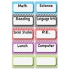 Ashley Chevron Border Classroom Jobs Magnets - Fun Theme/Subject - Magnetic - Chevron - Write on/Wipe off - Multicolor - 10 / Set