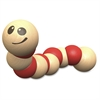 BeginAgain Toys Earthworm Wooden Toy - Skill Learning: Grasping, Senses, Fine Motor