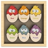 BeginAgain Color 'N Eggs Matching Game - Learning - Assorted - Rubberwood