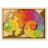 BeginAgain Toys Counting Chameleon Puzzle - Theme/Subject: Fun, Learning - Skill Learning: Number, Counting, Language - 15 Pieces