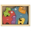 BeginAgain Dog Family Bilingual Puzzle - Theme/Subject: Learning, Fun - Skill Learning: Motor Skills, Imagination, Language, Problem Solving, Color - 6 Pieces