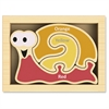 BeginAgain Mini Color Snail Puzzle - Skill Learning: Color, Dexterity, Problem Solving