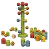 BeginAgain Toys Ladybug Flower Tower Game - Learning - Assorted - Rubberwood