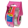 "Heavy-duty Shipping Packaging Tape - 2"" Width x 66.67 ft Length - Heavy Duty - Dispenser Included - 1 Roll - Pink"