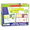 Scholastic Grade K-2 Match/Write Alphabet Mats - Theme/Subject: Learning - Skill Learning: Alphabet, Uppercase Letters, Lowercase Letters, Consonant Sound, Consonant Sound - 91 Pieces