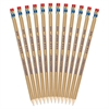 Wood Pencil - #2, HB Lead Degree (Hardness) - Graphite Lead - Yellow Cedar Wood Barrel - 12 / Pack