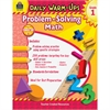 Daily Warm-Ups: Problem Solving Math Grade 1 Education Printed Book for Mathematics - Book - 176 Pages