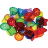 "R20208 See-Through Big Buttons - 2"" x 2"" - 30 Piece - Transparent"