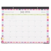 "Blue Sky Today's Teacher ""Squares"" 17 x 13 Monthly Desk Pad Calendar - Julian - Monthly - 1 Year - July 2016 till June 2017 - Double Page Layout17"" x 13"" - Desk Pad - Tear-off, Bleed Resistant, Acid-f"