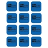Flipside Magnetic Whiteboard Student Eraser - Magnetic - Blue - Fabric, EVA Foam - 12 / Set