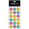 "Astrobrights Foil Enhanced Stickers - Fun Theme/Subject - Round - Self-adhesive - Sweet Job, Nice Work, You Rock, Like - 1.25"" Diameter - Assorted - Foil - 60 / Pack"