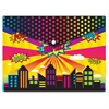 Ashley Superhero Design Snap Poly Folder - Poly - Multi-colored - 6 / Pack