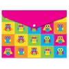 Ashley Owls Design Snap Poly Folders - Poly - Multi-colored - 6 / Pack