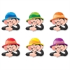 "Trend Monkey Hats Classic Accent Variety Pack - Learning, Animal Theme/Subject - 36 (Monkey Hat) Shape - Reusable, Durable, Precut - 6"" Height - Green, Purple, Red, Blue, Orange, Yellow - 36 / Pack"