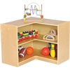 "ECR4KIDS Birch 3"" Corner Storage Unit - 5 Compartment(s) - 12"" - 24"" Height x 30"" Width x 30"" Depth - Floor - Natural - Birch - 1Each"