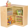 "ECR4KIDS Birch 3"" Corner Storage Unit - 5 Compartment(s) - 12"" - 30"" Height x 30"" Width x 30"" Depth - Floor - Natural - Birch - 1Each"