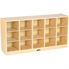 "ECR4KIDS Birch 15 Cubby Tray Cabinet - 15 Compartment(s) - Compartment Size 6.75"" x 9"" x 12"" - 24"" Height x 48"" Width x 13"" Depth - Natural - Birch - 1Each"