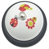 "Ashley Ladybug Call Bell - 3"" Diameter - Metal - Multicolor Color"