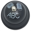 "Chalkboard Call Bell - 3"" Diameter - Metal - Multicolor Color"