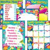 Trend PreK-3 Owl-Stars Basic Learning Charts Combo - Theme/Subject: Learning - Skill Learning: Birthday, Week, Day, Month - 5 Pieces