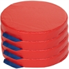 "ECR4KIDS 4-pc Round Carry Me Cushion - 15"" x 15"" - Vinyl, Foam - Round - Comfortable, Durable, Lightweight, Handle - 4 / Set"
